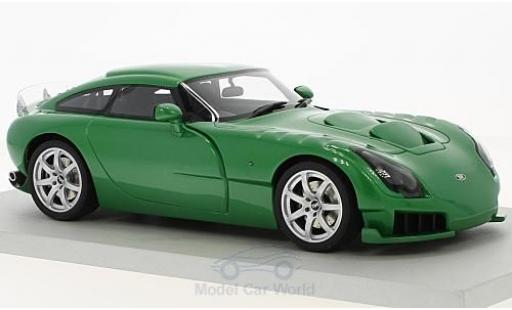 TVR Sagaris 1/18 Lucky Step Models metallise verte RHD 2005 ohne Vitrine miniature