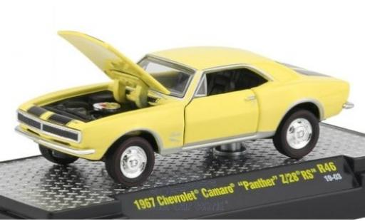 Chevrolet Camaro 1/64 M2 Machines Panther Z/28 RS jaune/noire 1967 miniature