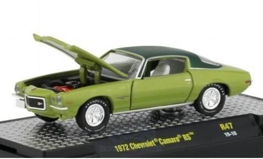Chevrolet Camaro 1/64 M2 Machines RS verte/matt-verte 1972 miniature