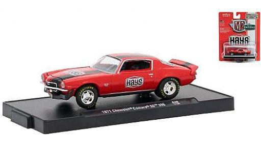 Chevrolet Camaro 1/64 M2 Machines SS 396 rouge/noire Hays 1971 miniature