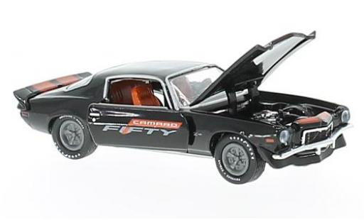 Chevrolet Camaro 1/64 M2 Machines Z/28 black/orange 1972 Fifty Years diecast model cars