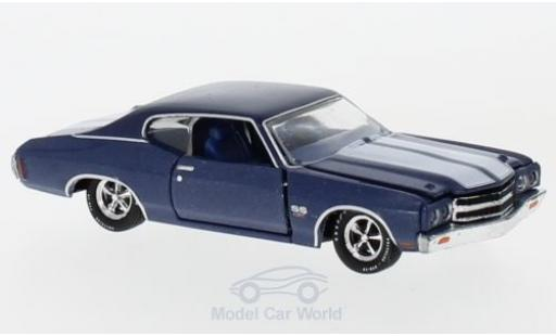 Chevrolet Chevelle 1970 1/64 M2 Machines Malibu SS 454 metallic-bleue/blanche 1970 miniature