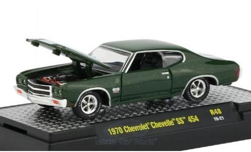 Chevrolet Chevelle 1/64 M2 Machines SS 454 metallic green/white 1970 diecast