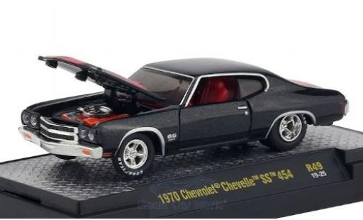 Chevrolet Chevelle 1/64 M2 Machines SS 454 metallic black/matt-red 1970 diecast