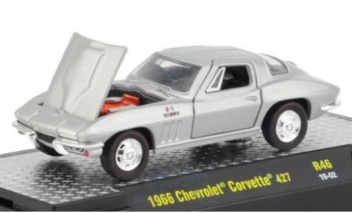 Chevrolet Corvette 1/64 M2 Machines 427 gris 1966 miniatura