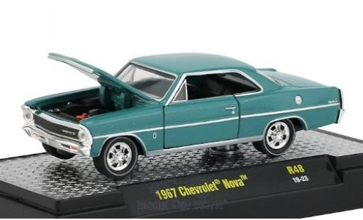 Chevrolet Nova 1/64 M2 Machines bleue 1967 miniature