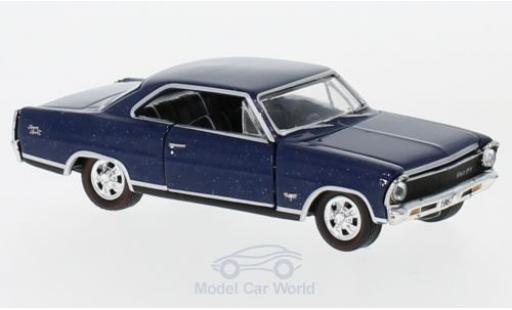 Chevrolet Nova 1/64 M2 Machines SS bleue 1967 miniature