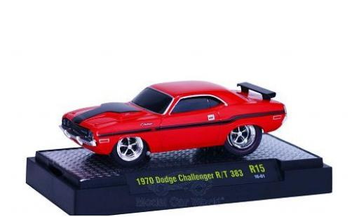Dodge Challenger 1970 1/64 M2 Machines R/T 383 rouge/noire 1970 Ground Pounders miniature