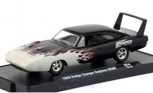 Dodge Charger Daytona 1/64 M2 Machines Daytona HEMI noire/Dekor 1969 miniature