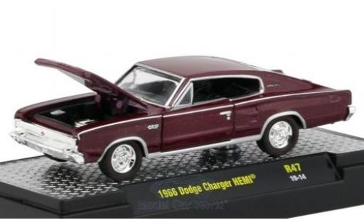 Dodge Charger 1/64 M2 Machines HEMI métallisé rouge 1966 miniature
