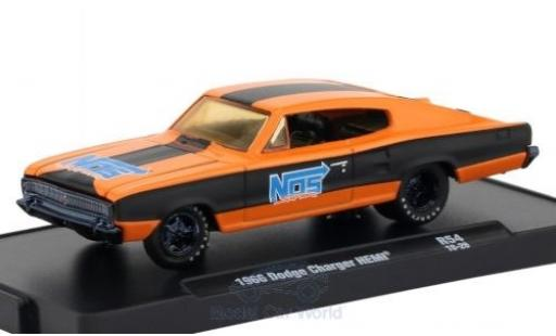 Dodge Charger 1966 1/64 M2 Machines HEMI orange/matt-noire miniature
