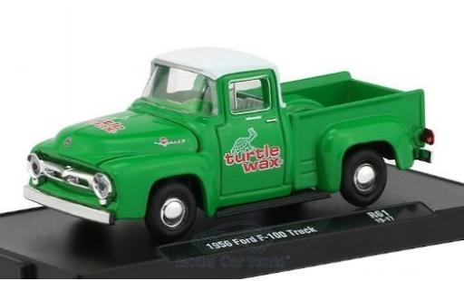 Ford F-1 1/64 M2 Machines 00 verte/blanche Turtle Wax 1956 miniature