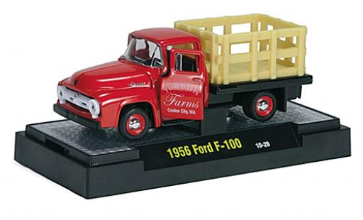 Ford F-1 1/64 M2 Machines 00 rouge Tom Davis Farms 1956 miniature