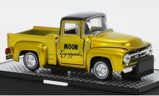 Ford F-1 1/64 M2 Machines 00 Truck Tuning Mooneyes - Moon Equipped 1956 miniature