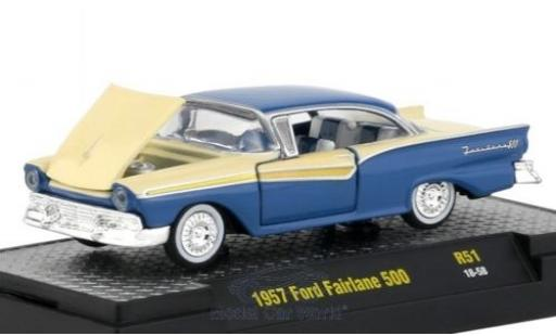 Ford Fairlane 1/64 M2 Machines 500 bleue/beige 1957 miniature