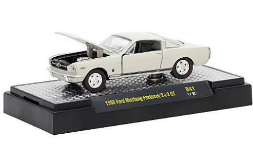 Ford Mustang 1/64 M2 Machines Fastback 2+2 GT metallise beige 1966 miniature