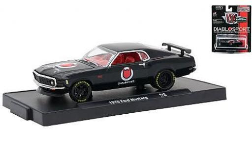 Ford Mustang 1/64 M2 Machines black Diablo Sport 1970 diecast model cars