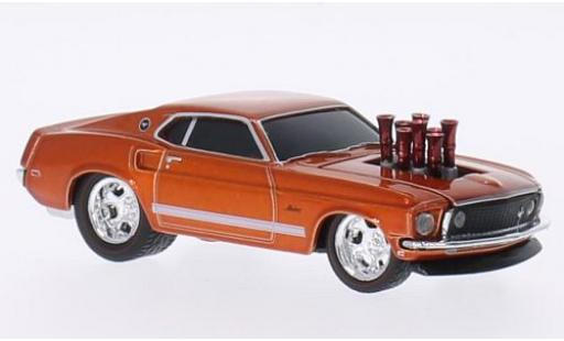 Ford Mustang 1/64 M2 Machines Tuning metallise kupfer 1969 Ground Pounders coche miniatura