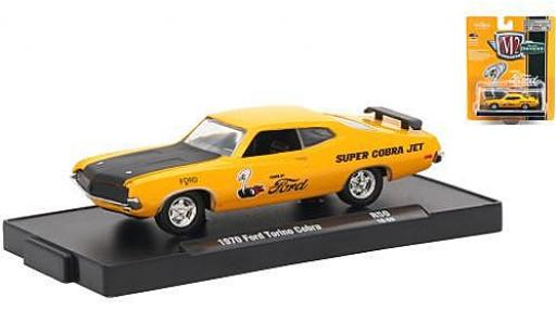 Ford Torino 1/64 M2 Machines Cobra orange Power by 1970 miniature