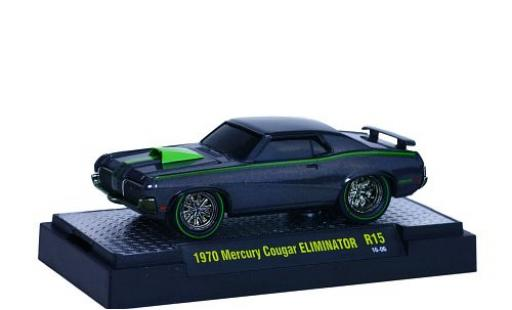 Mercury Cougar 1/64 M2 Machines Eliminator grise/verte 1970 Ground Pounders miniature
