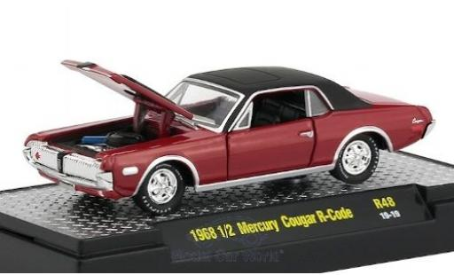 Mercury Cougar 1/64 M2 Machines R-Code rouge/matt-noire 1968 miniature