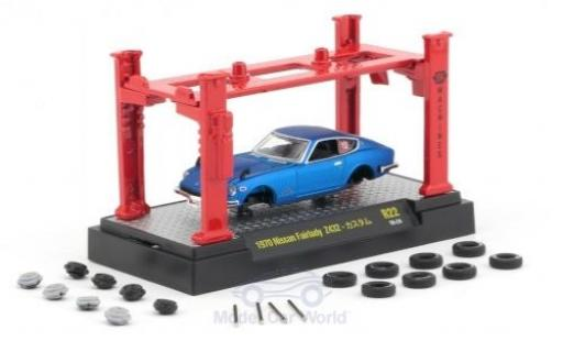 Nissan Fairlady Z Z432 1/64 M2 Machines 432 metallic blue 1970 Model-Kit Bausatz inklusive 4 Ersatzrädern diecast