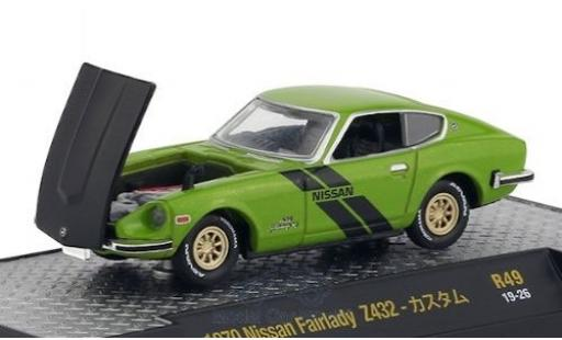 Nissan Fairlady Z 1/64 M2 Machines 432 metallic green/matt-black RHD 1970 diecast