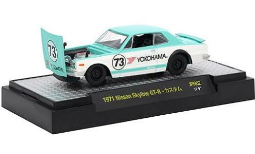 Nissan Skyline 1/64 M2 Machines GT-R green/white RHD 1971 Nr.73 diecast model cars