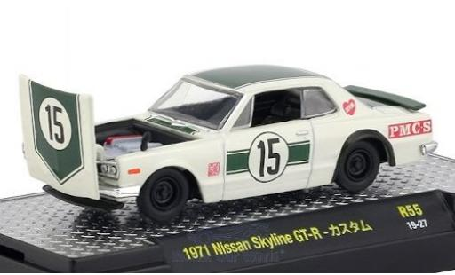 Nissan Skyline 1/64 M2 Machines GT-R RHD No.15 1971 miniature