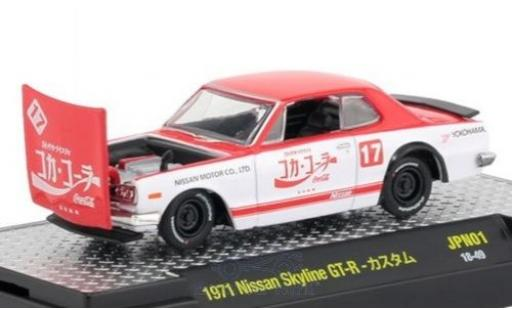 Nissan Skyline 1/64 M2 Machines GT-R red/white Coca Cola 1971 diecast model cars
