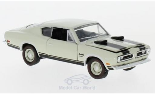Plymouth Barracuda 1969 1/64 M2 Machines 440 beige 1969 miniature