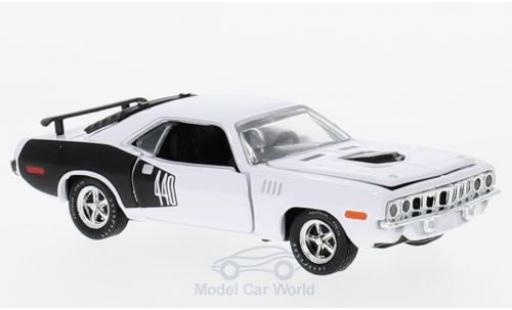 Plymouth Cuda 1971 1/64 M2 Machines 440 6-Pack blanche 1971 miniature