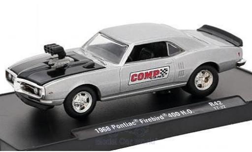 Pontiac Firebird 1/64 M2 Machines 400 H.O. grise/noire Comp Cams 1968 Auto-Drivers Release 42 ohne Vitrine miniature