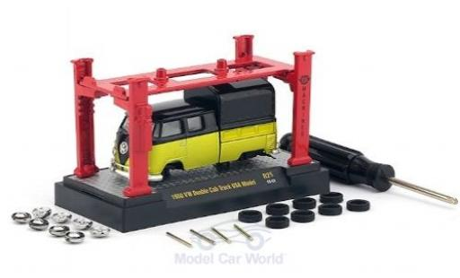 Volkswagen T1 1/64 M2 Machines DoKa yellow/black 1960 Model-Kit Bausatz inklusive 4 Ersatzrädern diecast