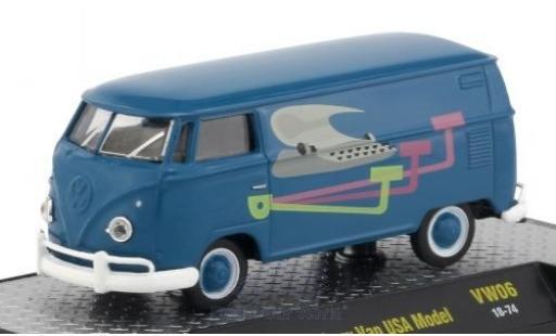 Volkswagen T1 1/64 M2 Machines Kastenwagen bleue/Dekor 1960 USA-Version miniature