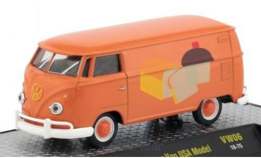 Volkswagen T1 A 1/64 M2 Machines Kastenwagen orange/Dekor 1960 US-Version miniature