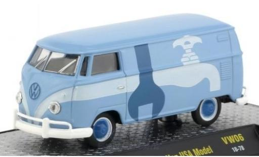 Volkswagen T1 B 1/64 M2 Machines Kastenwagen blue/Dekor 1960 USA-Version diecast model cars