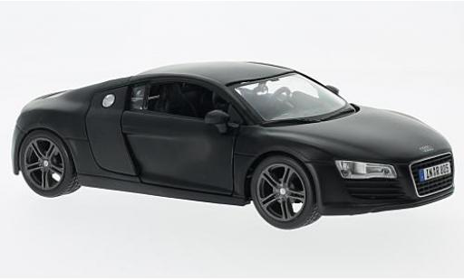 Audi R8 1/24 Maisto matt-black diecast model cars