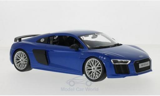 Audi R8 1/18 Maisto V10 Plus blue diecast model cars