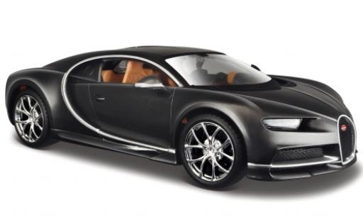 Bugatti Chiron 1/24 Maisto metallise grey 2016 diecast model cars