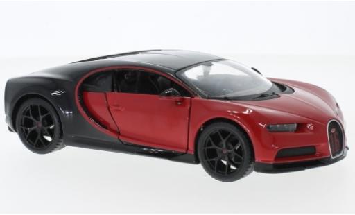 Bugatti Chiron 1/24 Maisto Sport red/black diecast model cars