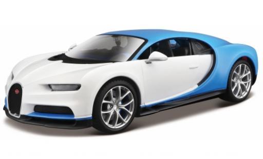 Bugatti Chiron 1/24 Maisto white/blue diecast model cars