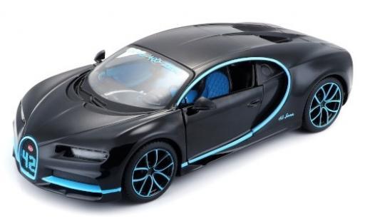 Bugatti Chiron 1/24 Maisto Zero-400-Zero black/blue 2018 diecast model cars