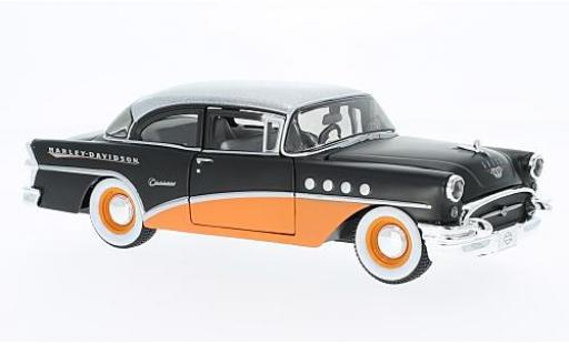 Buick Century 1/24 Maisto matt-noire/orange Harley-Davidson 1955 miniature