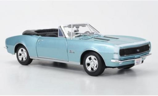 Chevrolet Camaro 1/18 Maisto SS 396 Convertible metallise blue 1967 diecast model cars