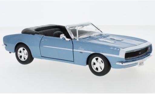 Chevrolet Camaro 1/24 Maisto SS 396 Convertible metallise blue 1968 diecast model cars
