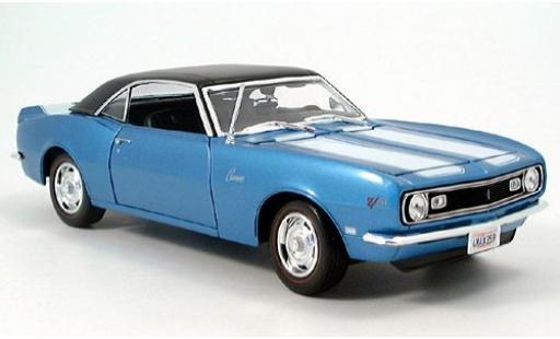 Chevrolet Camaro 1/18 Maisto Z28 mettalic blau 1968 sans Vitrine modellautos