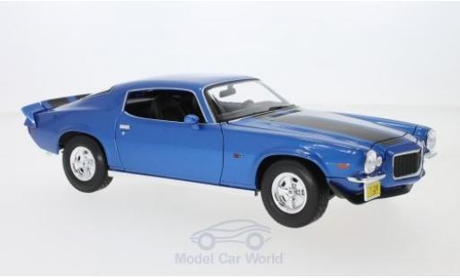 Chevrolet Camaro 1/18 Maisto Z28 métallisé bleue/noire 1971 miniature