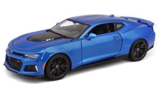 Chevrolet Camaro 1/24 Maisto ZL1 metallise blue 2017 diecast model cars