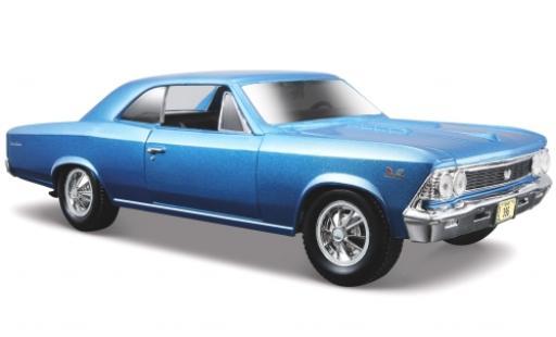 Chevrolet Chevelle 1/24 Maisto SS 396 metallise blue 1966 sans Vitrine diecast model cars